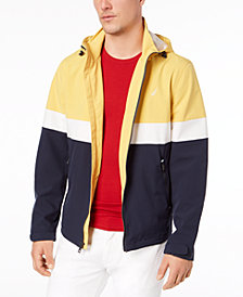 Nautica Men's Big & Tall Colorblocked Hooded Jacket
