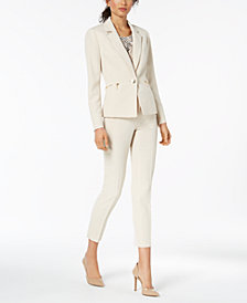 Kasper One-Button Blazer, Pleated Shell & Ankle Pants