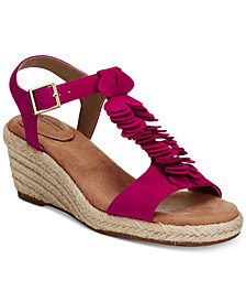 Giani Bernini Sallee Memory Foam Platform Espadrille Wedge Sandals, Created for Macy's