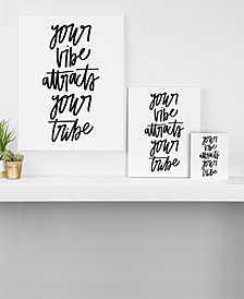 Deny Designs Chelcey Tate Your Vibe Attracts Your Tribe Canvas Collection