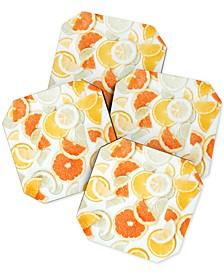 Ingrid Beddoes Citrus Orange Twist Coaster Set