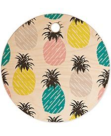 Zoe Wodarz Pineapple Pastel Cutting Board
