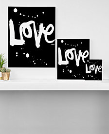 Deny Designs Kal Barteski Love Black Canvas Collection