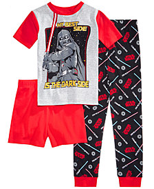Star Wars 3-Pc. Darth Vader Cotton Pajama Set, Little Boys & Big Boys