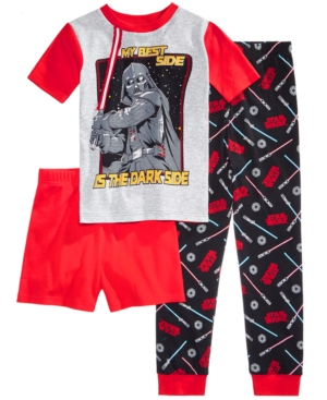 Star Wars 3Pc Darth Vader Cotton Pajama Set Little Boys  Big Boys