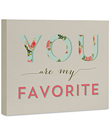 """Deny Designs Allyson Johnson Floral You Are My Favorite 8"""" x 10"""" Canvas Wall Art"""