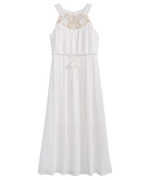 e58831f03301 Sequin Hearts Big Girls Embroidered Maxi Dress - Dresses - Kids - Macy s
