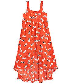 Sequin Hearts Floral-Print Lace-Up Maxi Dress, Big Girls