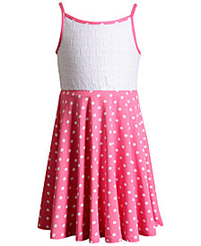 Sweet Heart Rose Reversible Knit Dress, Toddler Girls