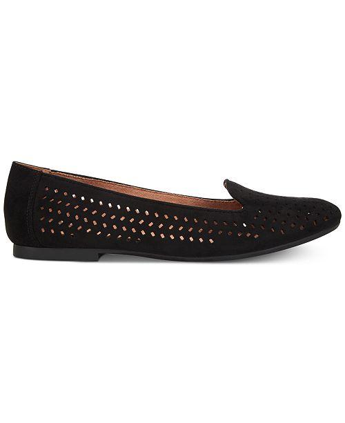 pour Mocassins chaussures Noir Alyson Chaussures Slip des Perfore oncrees critique StyleCo la Plates srhtdQ