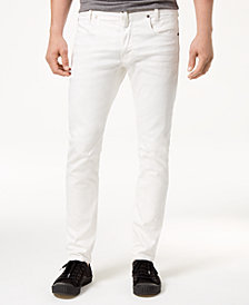G-Star RAW Men's Slim-Fit Stretch White Jeans