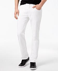 INC Men's Teller Slim-Fit White Jeans, Created for Macy's