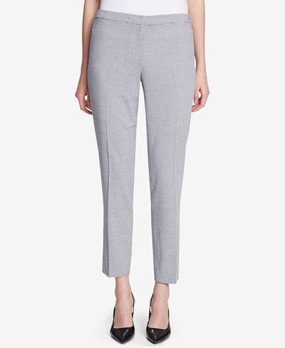 Calvin Klein Straight-Leg Seersucker Pants