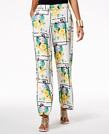 Thalia Sodi Printed Wide-Leg Pants, Created for Macy's
