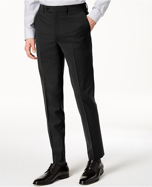 6936efb06a ... Calvin Klein Men s Skinny-Fit Infinite Stretch Black Suit Pants ...
