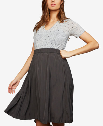 A Pea In The Pod Maternity Pleated Skirt