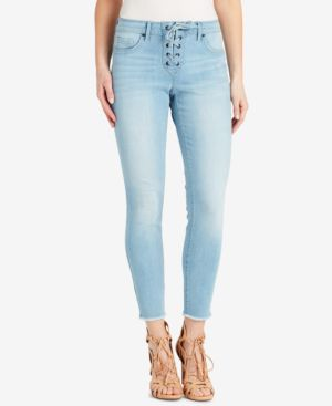 Jessica Simpson Kiss Me Lace-Up Skinny Jeans 6011890