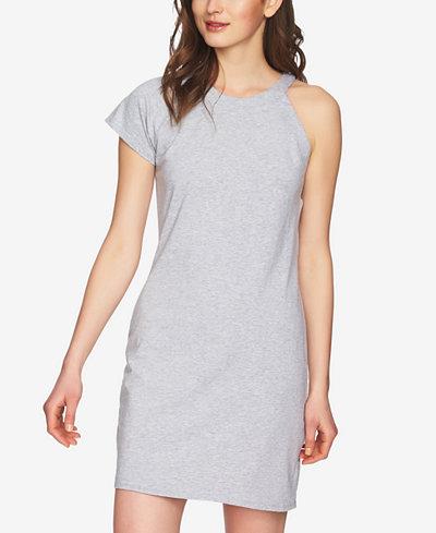 1.STATE One-Shoulder T-Shirt Dress