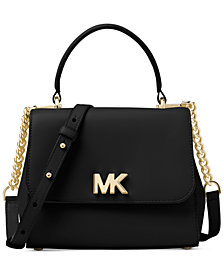 MICHAEL Michael Kors Mott Small Polished Leather Top-Handle Satchel