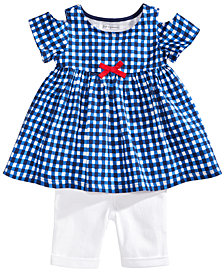 First Impressions Gingham Tunic & Shorts Separates, Baby Girls, Created for Macy's