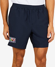 "Nautica Men's Country Flag Classic-Fit Quick-Dry 7"" Shorts, Created for Macy's"