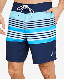 "Nautica Men's Engineered Sun Stripe 8"" Swim Trunks"