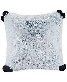 "Intelligent Design Emma Reversible 20"" Square Shaggy Faux-Fur Decorative Pillow"