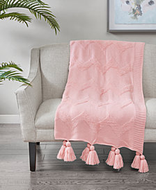"Madison Park Maya 50"" x 60"" Tufted-Chevron Throw"