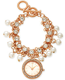 Charter Club Women's Rose Gold-Tone Toggle Bracelet Watch 36mm, Created for Macy's