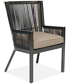 CLOSEOUT! Savannah Outdoor Captain Dining Chair with Sunbrella® Cushion, Created for Macy's