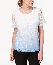 Alfred Dunner Daydreamer Ombré-Lace Sweater
