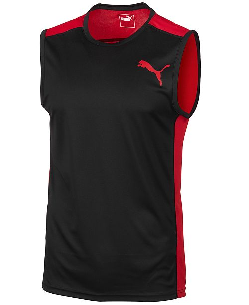16119d2177 Puma Men's Sleeveless Training T-Shirt & Reviews - T-Shirts - Men ...