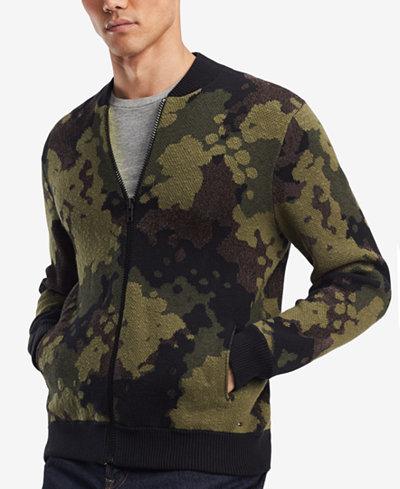 Tommy Hilfiger Denim Men's Brave Baseball Sweater Jacket