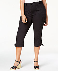 Lee Platinum Plus Size Cropped Cargo Pants