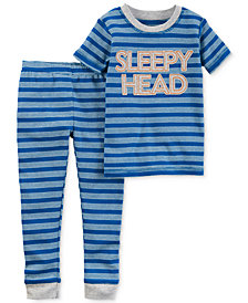 Carter's Little Planet Organics 2-Pc. Sleepy Head Cotton Pajama Set, Baby Boys