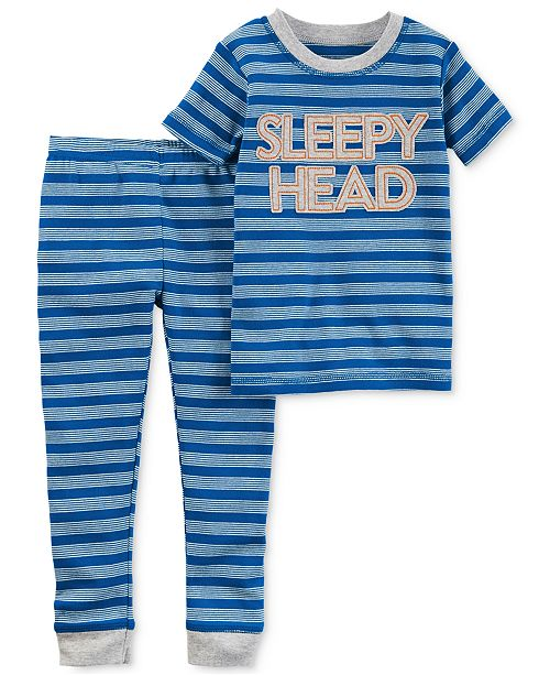 021d6a7c2ee6 Carter s Little Planet Organics 2-Pc. Sleepy Head Cotton Pajama Set ...