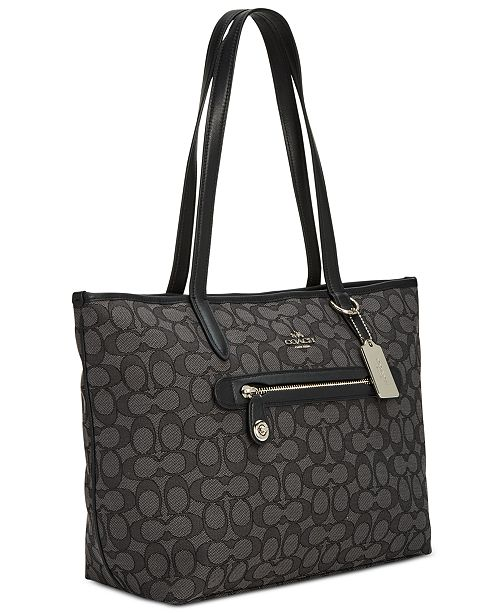 a0877228a COACH Taylor Tote in Signature Jacquard & Reviews - Handbags ...