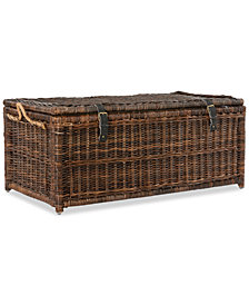 Happimess Caden 46'' Wicker Storage Trunk, Quick Ship