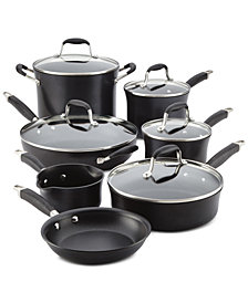 Anolon Advanced 12-Pc. Onyx Hard-Anodized Non-Stick Cookware Set