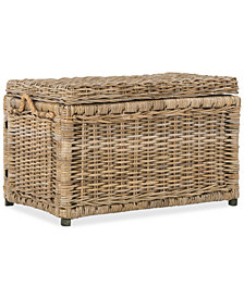 Happimess Jacob 30'' Wicker Storage Trunk, Quick Ship