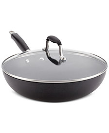 "Anolon Advanced Onyx Hard-Anodized Non-Stick 12"" Ultimate Pan & Lid"