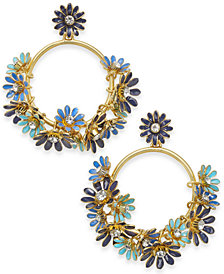 kate spade new york 14k Gold-Plated Drop Hoop Earrings