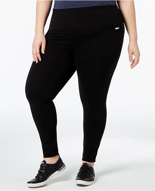 3a503b5bed859 Calvin Klein Plus Size Leggings   Reviews - Pants   Capris - Plus ...