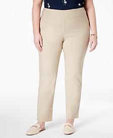 Petite Plus Size Cambridge Tummy-Control Pull-On Pants, Created for Macy's