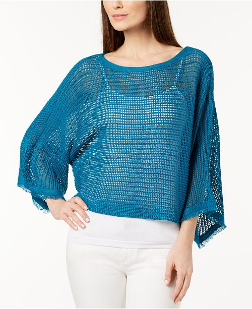 Organic Linen Sheer Sweater
