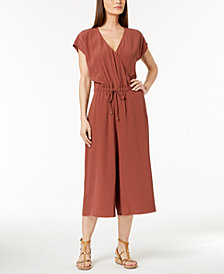 Eileen Fisher Tencel® Crepe Cropped Wide-Leg Jumpsuit, Regular & Petite