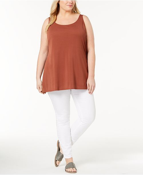 3dd9e31c1cea3 Eileen Fisher. Plus Size Silk Jersey Tunic. 1 reviews. main image  main  image