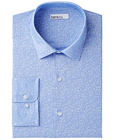 Men's Slim-Fit Stretch Easy-Care Small Jacquard Floral Dress Shirt, Created for Macy's