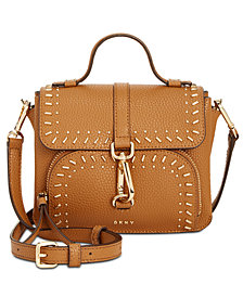 DKNY Paris Studded Top-Handle Crossbody, Created for Macy's