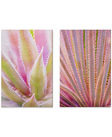 Graham & Brown Blushed Tropics Metallic Canvas Print, Set of 2